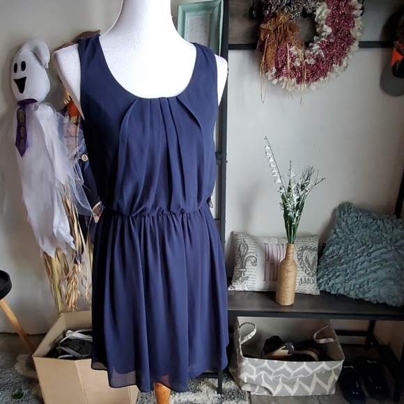 BCX Dresses & Skirts - Navy blue midi dress